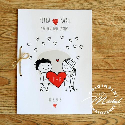 Svatební omalovánky - TYP 29
