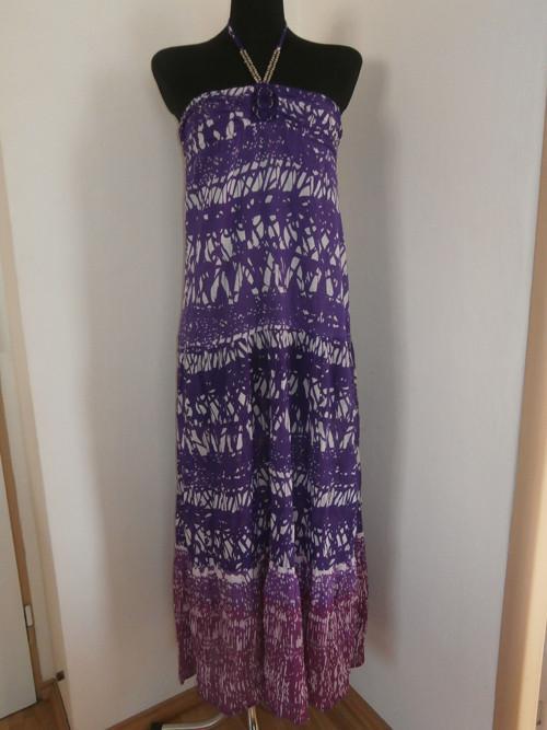Maxi fialové šaty
