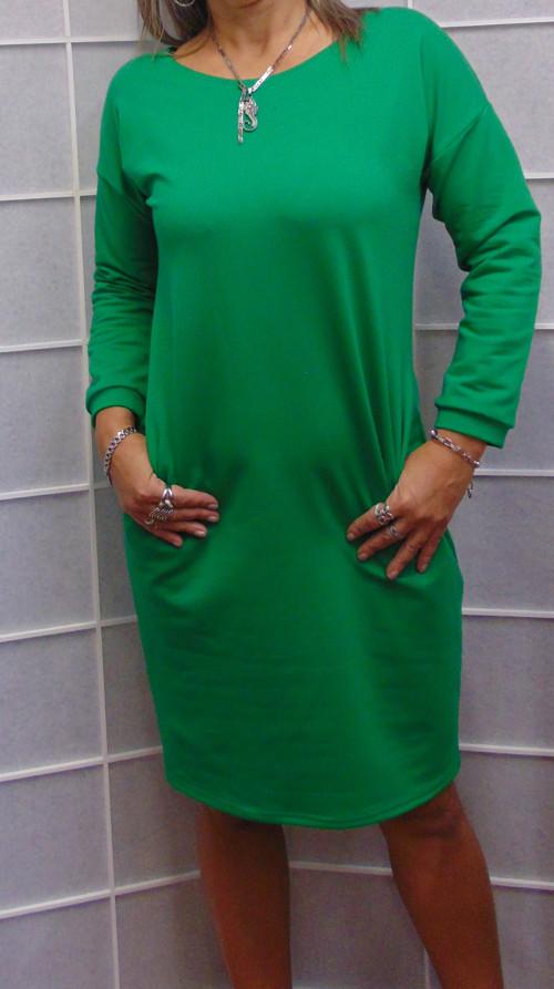 šaty s kapsama-ZELENA