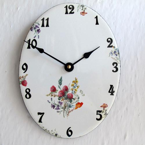 Smaltované hodiny velké 199