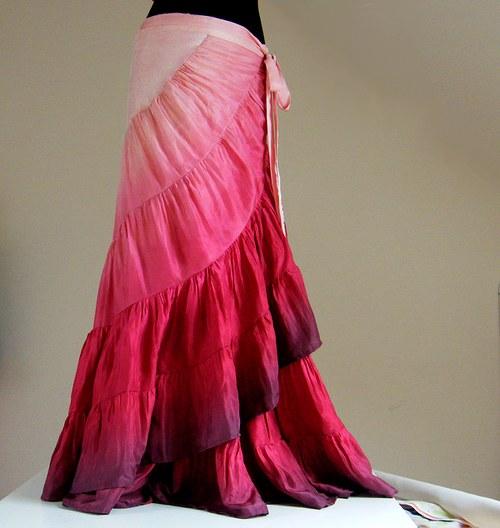 Mé MILOVANÉ MALINOVÉ MALINY - romantická sukně