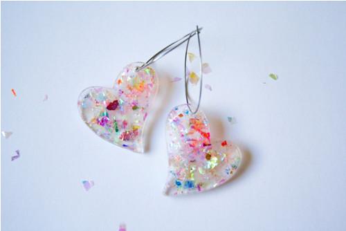 Náušnice G-power Confetti Hearts