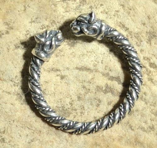 KOČKA stříbrný prsten stříbro Ag 925 kočička