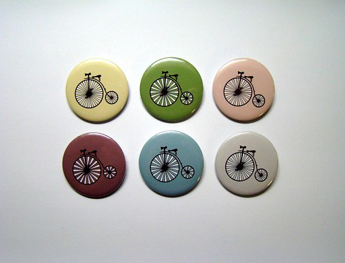 * VELOCIPÉDY *  - SÉRIE (6) - placky-buttony 44 mm
