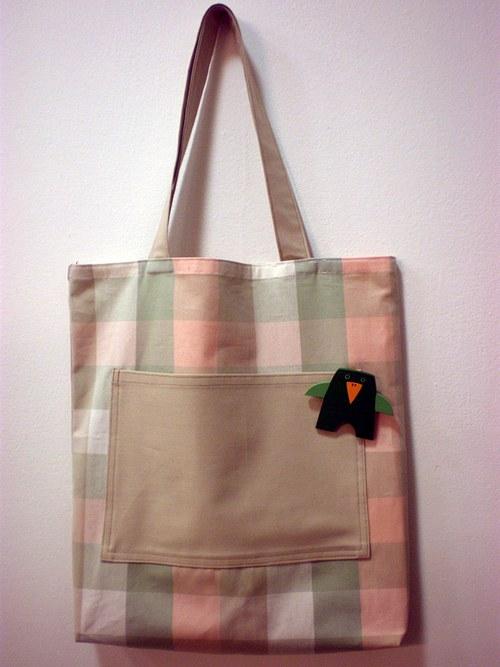 Nákupní taška s broží - ptáček