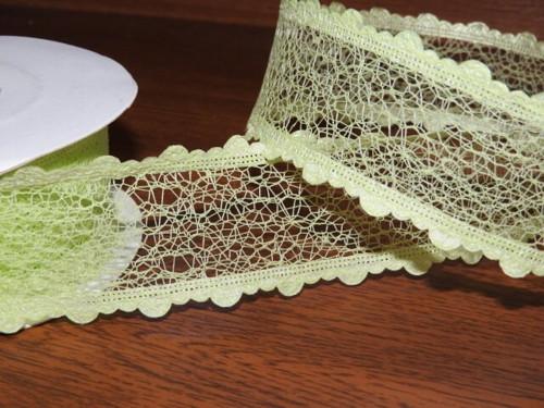 Stuha pavučinka šíře 38 mm zelinkavá