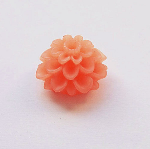 květinka / zamrzlá/ 20mm/ oranžová č.4/ 2ks