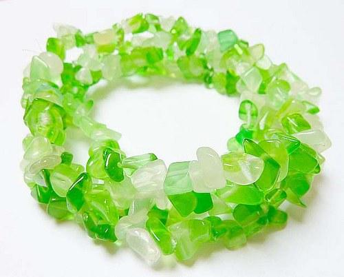 Zlomky z přírodních minerálů cca 110ks fluorit zel