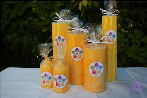 ZEMĚ - energetizující svíčka, žlutá