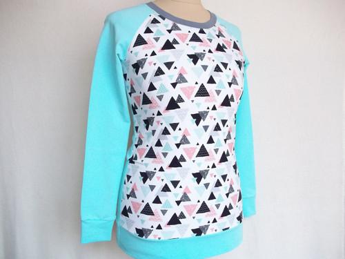 Dámská tričkomikina - Geometrie mint