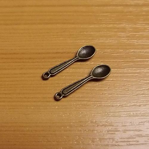 Lžička -  bronz - 6mm x 23mm - 2 kusy