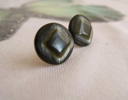 Zeleno-stříbrné 12mm (chirurgická ocel)