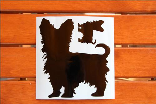 Psí samolepka - jorkšír