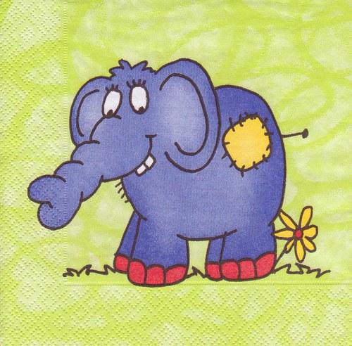 Ubrousek - slon
