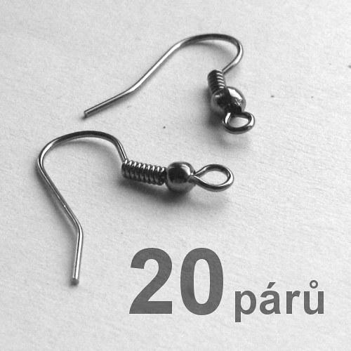 Afroháčky - gunmetal - 40ks (20párů)
