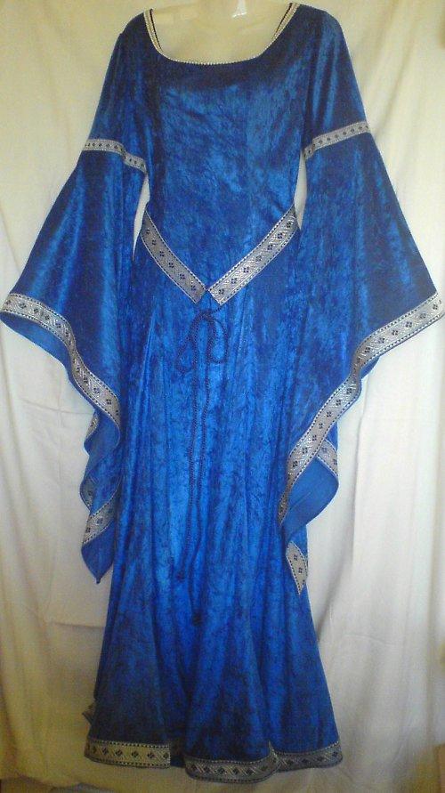 Modré gotické šaty - Marianna