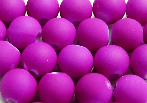Pogumovaná kulička 6 mm - fialová / 10 ks