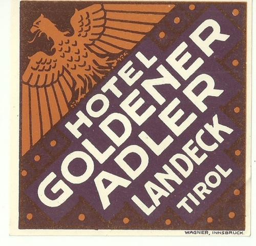 Hotelové nálepky Hotel Adler Tirol