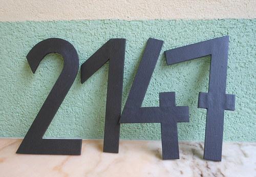 Kovová čísla na dům