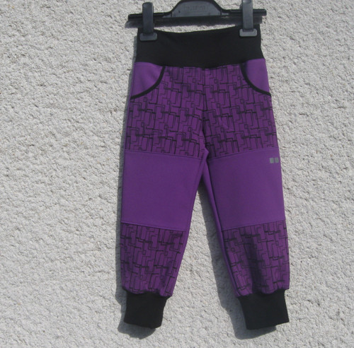 Softshelové zimní  kalhoty - vel. 98-104- skladem