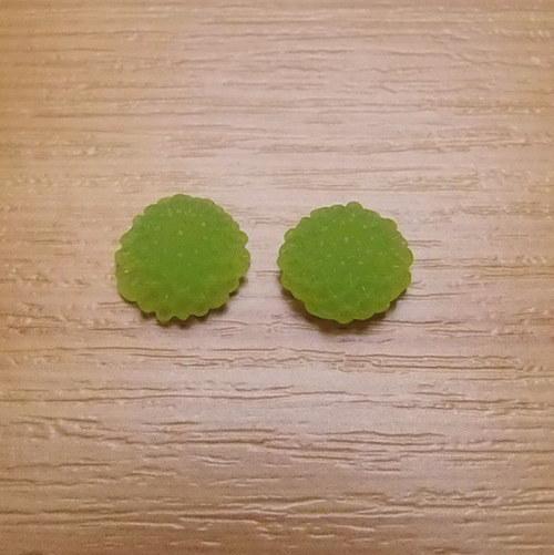 Chryzantéma - kabošon - 10 x 5 mm  - 2 kusy