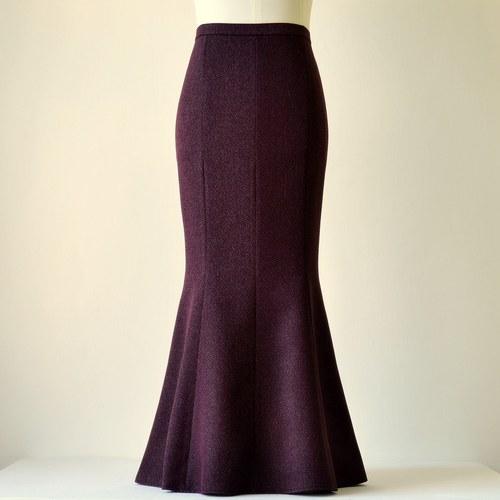 Dlouhá sukně tmavě fialová