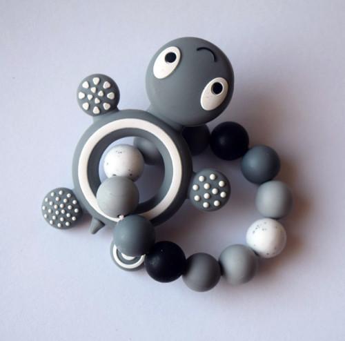 silikonové korálky - kousátko s želvou