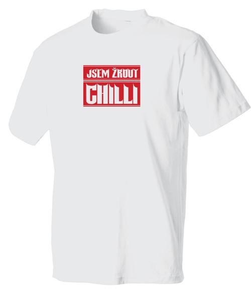 Pánské tričko - Jsem žrout chilli - černé/ bílé
