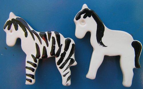Sada zebra s koníkem