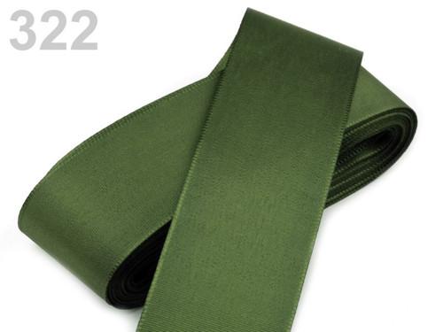 Taftová stuha 52mm (10m) - olivová zeleň