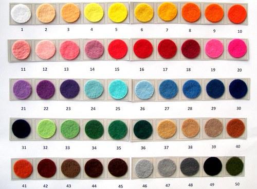 Plsť - barva č. 32 - světle zelená
