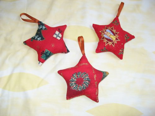 Hvězdičky vánoční větší