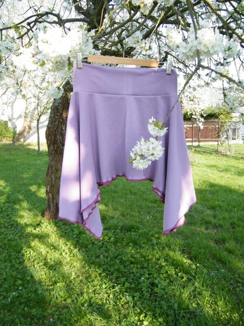 Cípatá sukně krátká fialová
