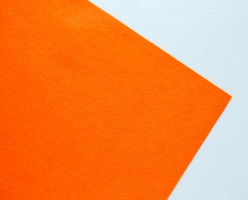 Plsť metráž oranžová (šířka 45 cm) (barva č. 9)