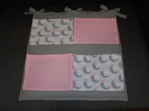 Kapsář spící měsíčky+růžová paraplíčka