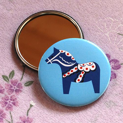 Zrcátko Dala horse ll (75 mm) s pytlíčkem