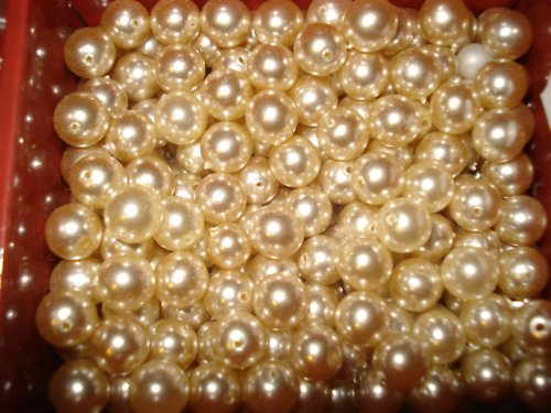 Voskové perle bílé 10mm