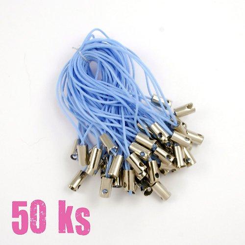 Světle modrá poutka - 50 ks
