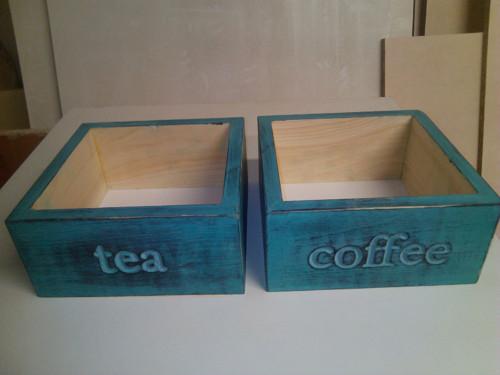 Dřevěná krabička na kávu a čaj