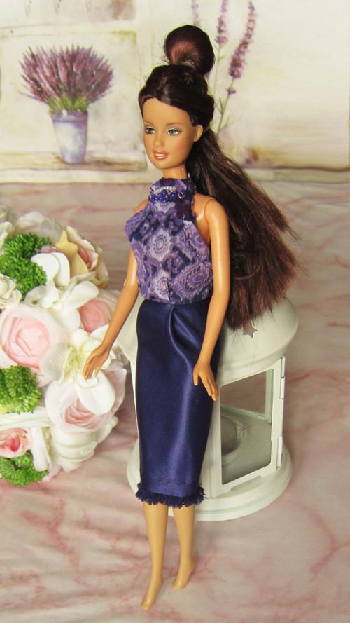 Fialové koktejlky pro Barbie