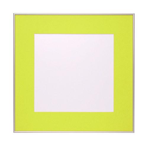 Hliníkový rám s paspartou 60x60 cm - Žlutozelená