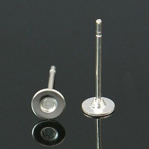 puzeta s ploškou chir.ocel/ platina/ 4mm/ 6ks