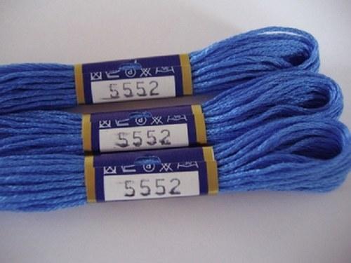 Vyšívací příze mouline - francouzská modrá