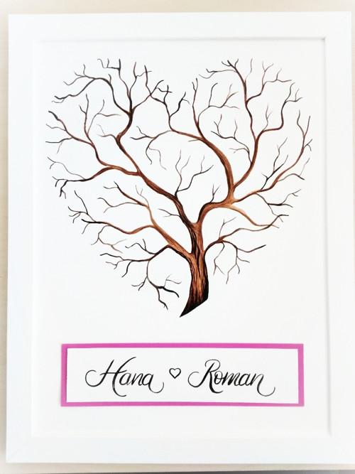 Strom - svatební kniha hostů - ručně malovaný