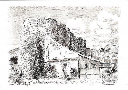 Jan Severa - Kouřimské hradby
