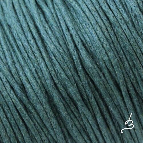 Bavlněná šňůrka 1 mm šedozelená