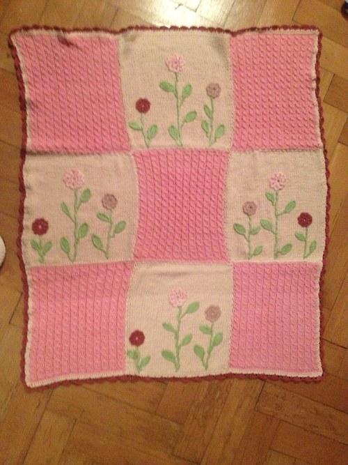Pletená deka pro miminko nejen do kočárku