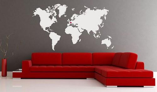 Mapa sveta 58x94cm 119n