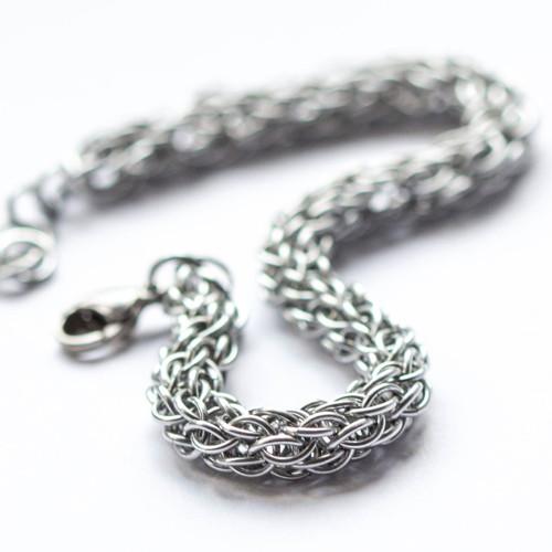 Spletenec stříbrný - náramek