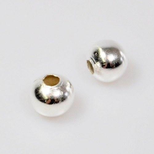 Kovový korálek 50 ks / 10 mm / antik stříbro